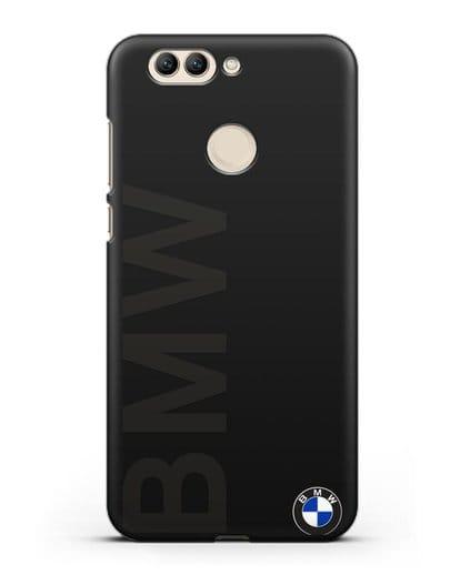 Чехол с надписью BMW и логотипом силикон черный для Huawei Nova 2 Plus