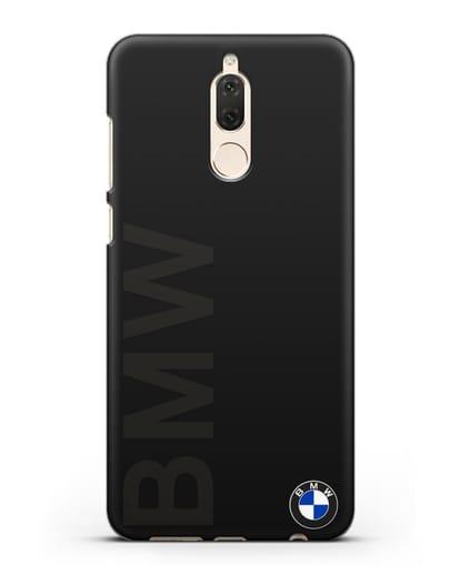 Чехол с надписью BMW и логотипом силикон черный для Huawei Nova 2