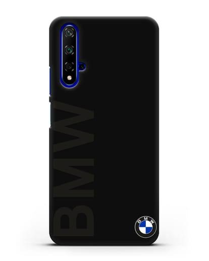 Чехол с надписью BMW и логотипом силикон черный для Huawei Nova 5T