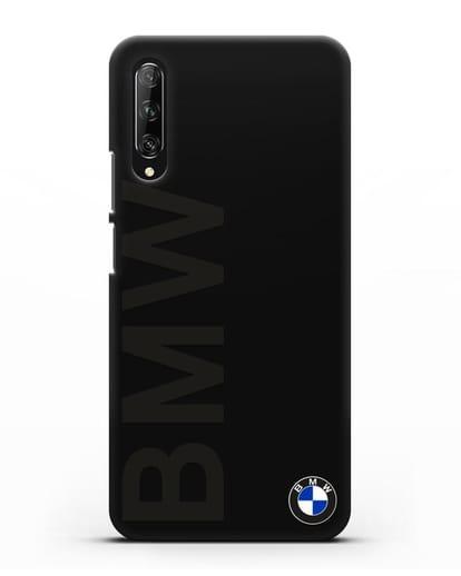 Чехол с надписью BMW и логотипом силикон черный для Huawei Y9s