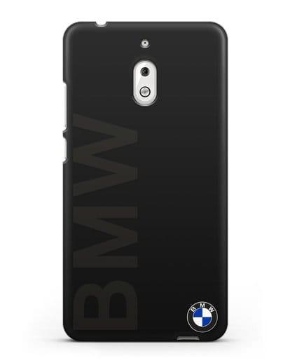 Чехол с надписью BMW и логотипом силикон черный для Nokia 2.1