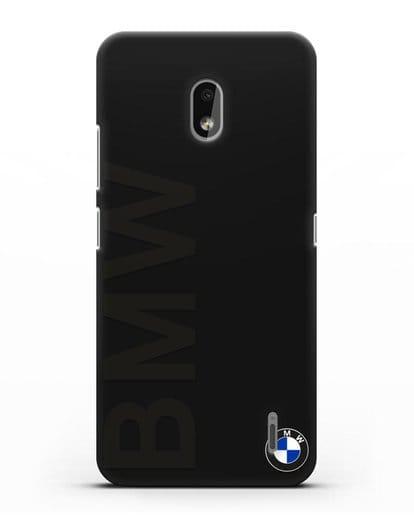 Чехол с надписью BMW и логотипом силикон черный для Nokia 2.2 2019