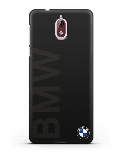 Чехол с надписью BMW и логотипом силикон черный для Nokia 3.1