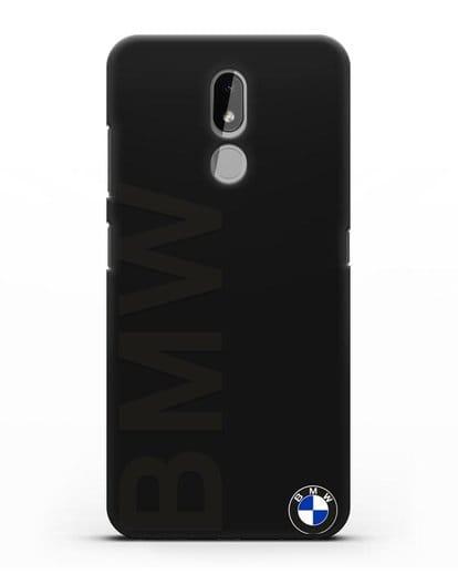 Чехол с надписью BMW и логотипом силикон черный для Nokia 3.2 2019