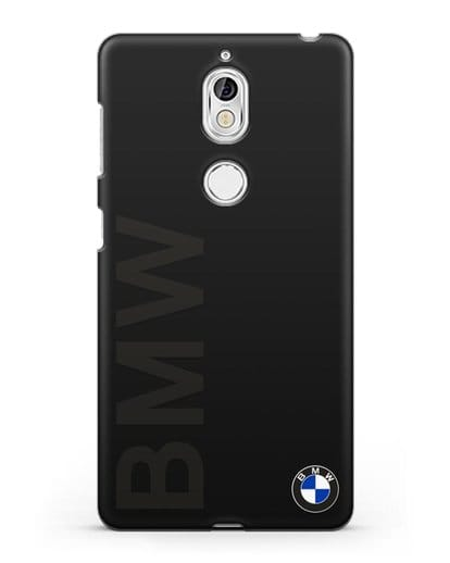 Чехол с надписью BMW и логотипом силикон черный для Nokia 7