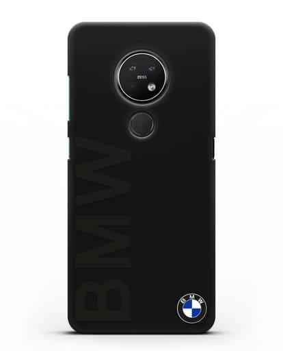 Чехол с надписью BMW и логотипом силикон черный для Nokia 7.2