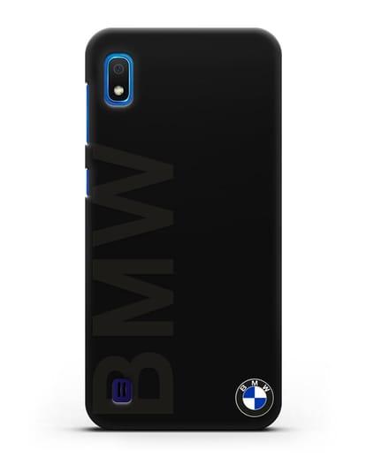 Чехол с надписью BMW и логотипом силикон черный для Samsung Galaxy A10 [SM-A105F]