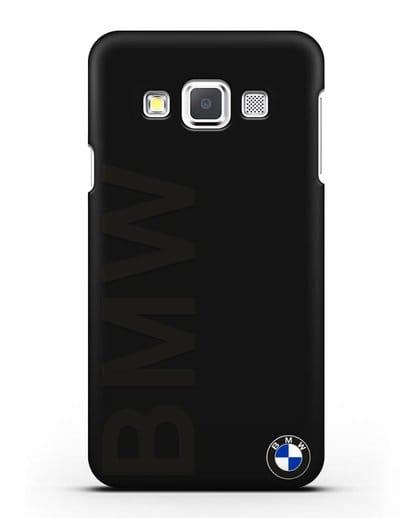 Чехол с надписью BMW и логотипом силикон черный для Samsung Galaxy A3 2015 [SM-A300F]