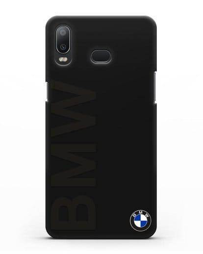 Чехол с надписью BMW и логотипом силикон черный для Samsung Galaxy A6s [SM-G6200]