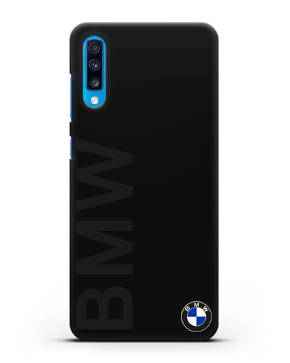 Чехол с надписью BMW и логотипом силикон черный для Samsung Galaxy A70 [SM-A705F]