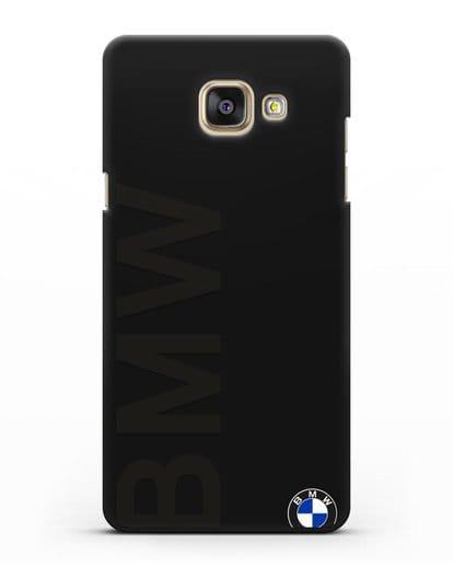 Чехол с надписью BMW и логотипом силикон черный для Samsung Galaxy A7 2016 [SM-A710F]