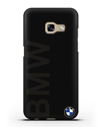 Чехол с надписью BMW и логотипом силикон черный для Samsung Galaxy A7 2017 [SM-A720F]