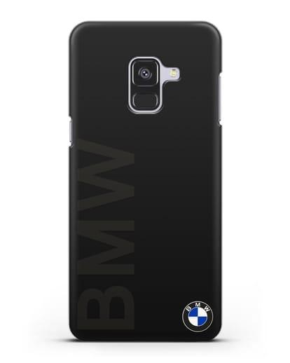 Чехол с надписью BMW и логотипом силикон черный для Samsung Galaxy A8 [SM-A530F]