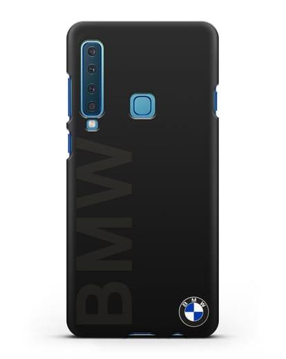 Чехол с надписью BMW и логотипом силикон черный для Samsung Galaxy A9 (2018) [SM-A920]