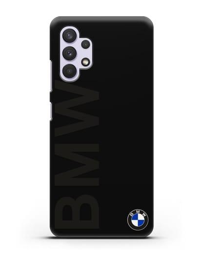 Чехол с надписью BMW и логотипом силикон черный для Samsung Galaxy A32 [SM-A325F]