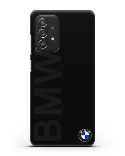 Чехол с надписью BMW и логотипом силикон черный для Samsung Galaxy A52 [SM-A525F]