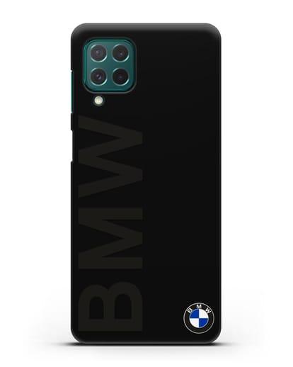 Чехол с надписью BMW и логотипом силикон черный для Samsung Galaxy M62 [SM-M625F]