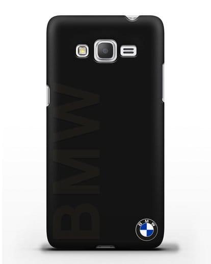 Чехол с надписью BMW и логотипом силикон черный для Samsung Galaxy Grand Prime [SM-G530]