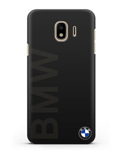 Чехол с надписью BMW и логотипом силикон черный для Samsung Galaxy J4 2018 [SM-J400F]