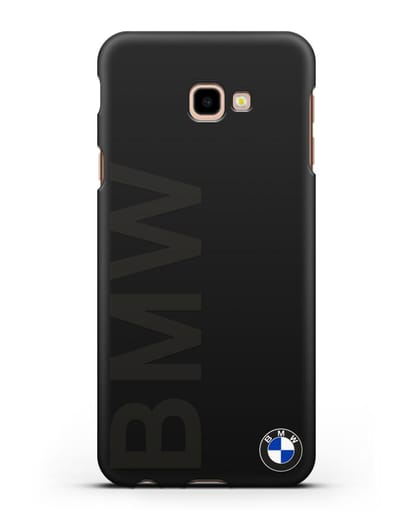 Чехол с надписью BMW и логотипом силикон черный для Samsung Galaxy J4 Plus [SM-J415]