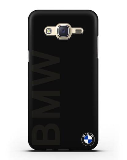 Чехол с надписью BMW и логотипом силикон черный для Samsung Galaxy J7 2015 [SM-J700H]