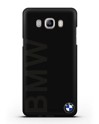 Чехол с надписью BMW и логотипом силикон черный для Samsung Galaxy J7 2016 [SM-J710F]