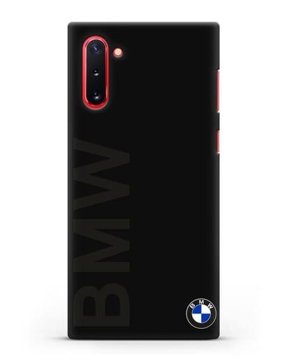 Чехол с надписью BMW и логотипом силикон черный для Samsung Galaxy Note 10 [N970F]