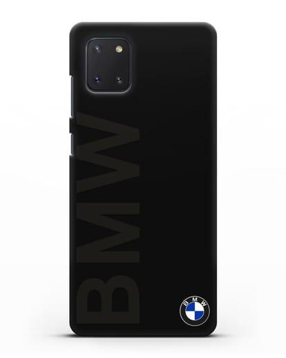 Чехол с надписью BMW и логотипом силикон черный для Samsung Galaxy Note 10 Lite [N770F]