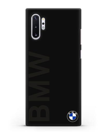 Чехол с надписью BMW и логотипом силикон черный для Samsung Galaxy Note 10 Plus [N975F]