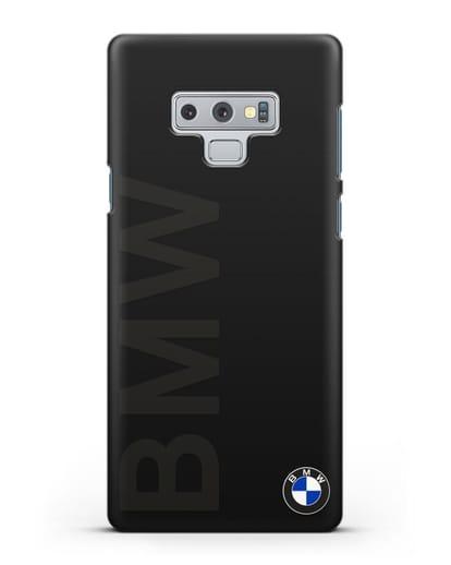 Чехол с надписью BMW и логотипом силикон черный для Samsung Galaxy Note 9 [N960F]