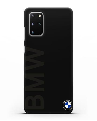 Чехол с надписью BMW и логотипом силикон черный для Samsung Galaxy S20 Plus [SM-G985F]