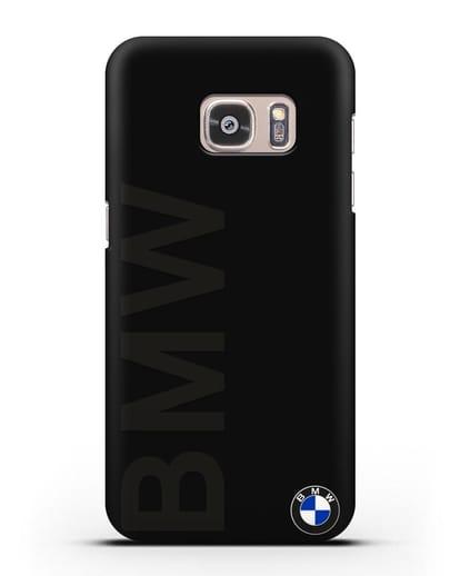 Чехол с надписью BMW и логотипом силикон черный для Samsung Galaxy S7 [SM-G930F]