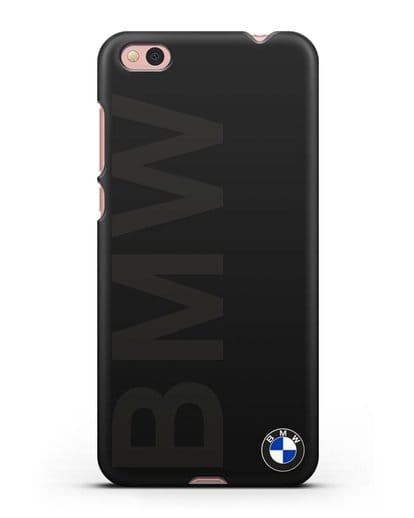 Чехол с надписью BMW и логотипом силикон черный для Xiaomi Mi 5С