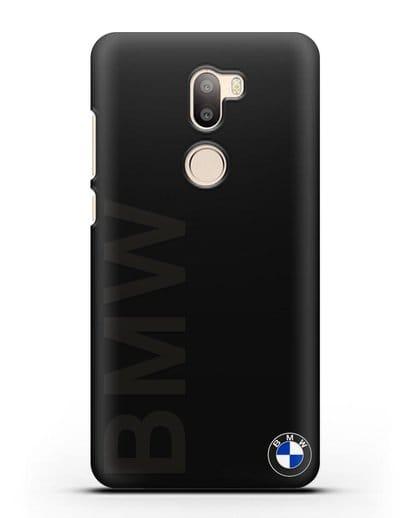 Чехол с надписью BMW и логотипом силикон черный для Xiaomi Mi 5S Plus