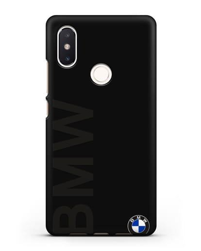 Чехол с надписью BMW и логотипом силикон черный для Xiaomi Mi 8 SE