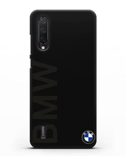 Чехол с надписью BMW и логотипом силикон черный для Xiaomi Mi 9 Lite