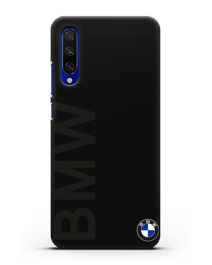 Чехол с надписью BMW и логотипом силикон черный для Xiaomi Mi CC9 E