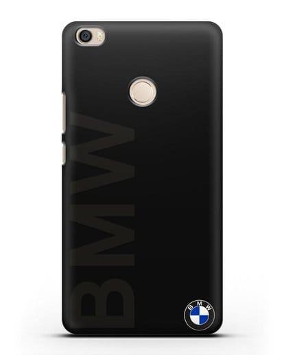 Чехол с надписью BMW и логотипом силикон черный для Xiaomi Mi Max