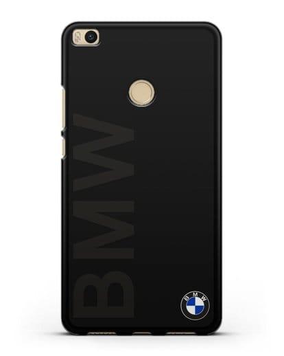 Чехол с надписью BMW и логотипом силикон черный для Xiaomi Mi Max 2