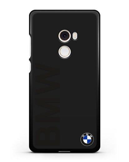 Чехол с надписью BMW и логотипом силикон черный для Xiaomi Mi Mix 2