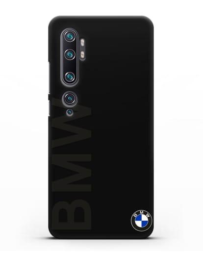 Чехол с надписью BMW и логотипом силикон черный для Xiaomi Mi Note 10