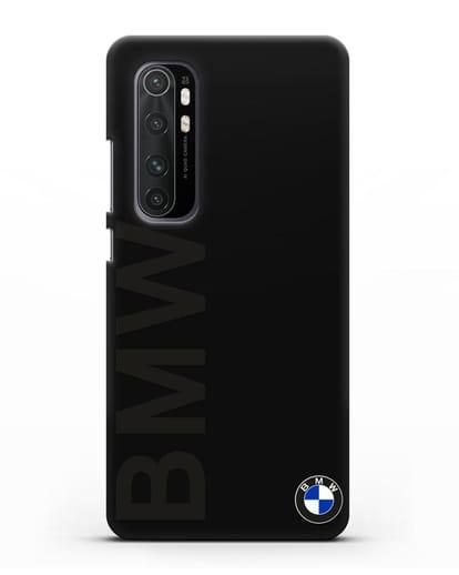 Чехол с надписью BMW и логотипом силикон черный для Xiaomi Mi Note 10 lite