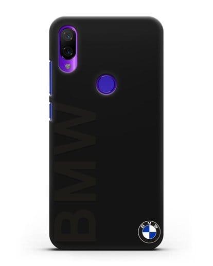 Чехол с надписью BMW и логотипом силикон черный для Xiaomi Mi Play