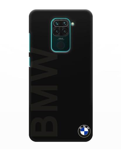 Чехол с надписью BMW и логотипом силикон черный для Xiaomi Redmi Note 9