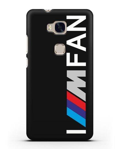 Чехол BMW M серии I am fan силикон черный для Honor 5X