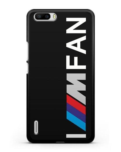 Чехол BMW M серии I am fan силикон черный для Honor 6 Plus