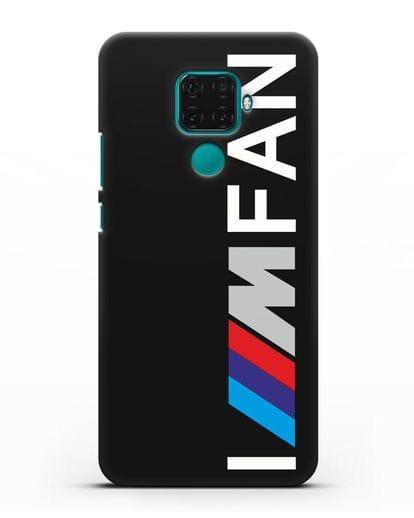 Чехол BMW M серии I am fan силикон черный для Huawei Mate 30 Lite