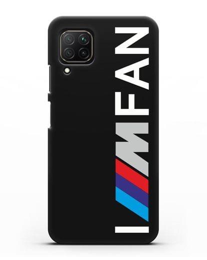 Чехол BMW M серии I am fan силикон черный для Huawei Nova 7i