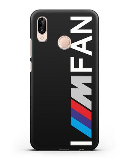 Чехол BMW M серии I am fan силикон черный для Huawei P20 Lite