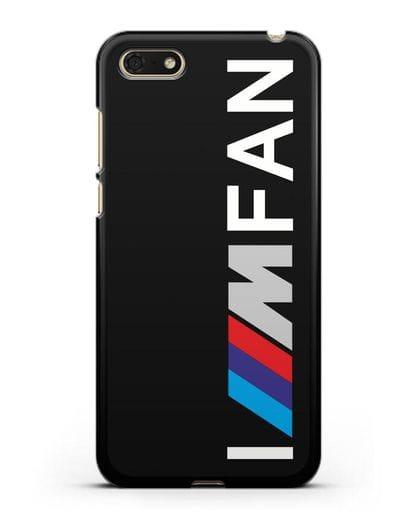 Чехол BMW M серии I am fan силикон черный для Huawei Y5 Prime 2018